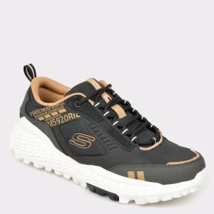 Pantofi sport SKECHERS negri, 51715, din material textil