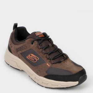 Pantofi sport SKECHERS maro, 51893, din material textil