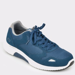 Pantofi sport SKECHERS bleumarin, 52518, din piele si material textil