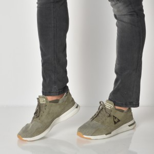 Pantofi Sport Le Coq Sportif Kaki, 1810105, Din Piele Intoarsa