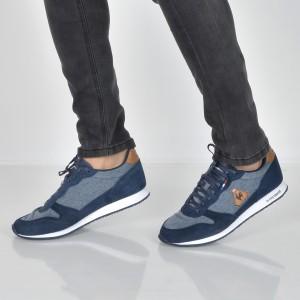 Pantofi sport LE COQ SPORTIF bleumarin, 1820016, din piele intoarsa si material textil