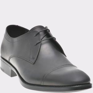 Pantofi negri, 110550, din piele naturala