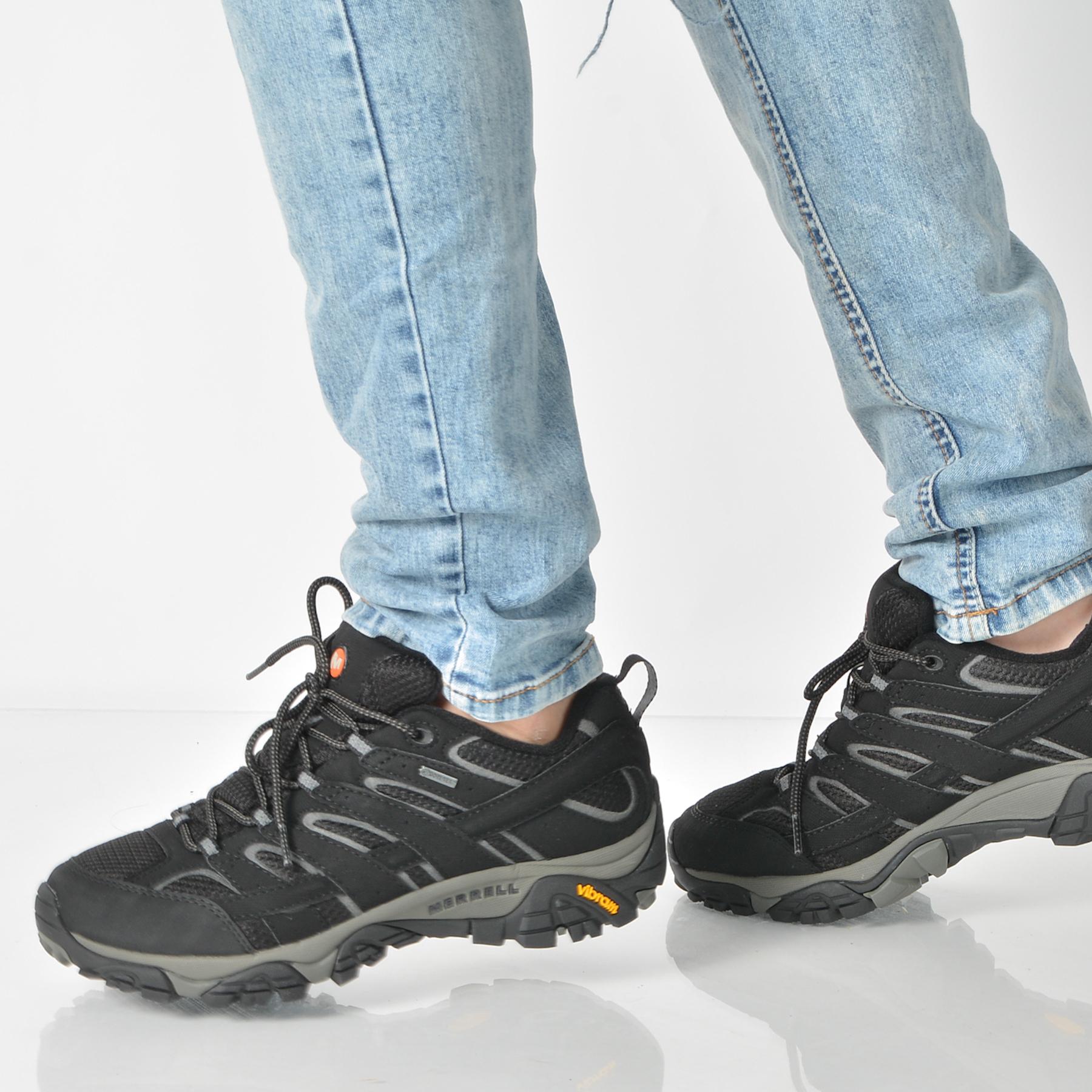 Pantofi MERRELL negri, Moab2, din combinatii div.