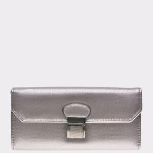 Portofel EPICA argintiu, Fld9316, din piele ecologica