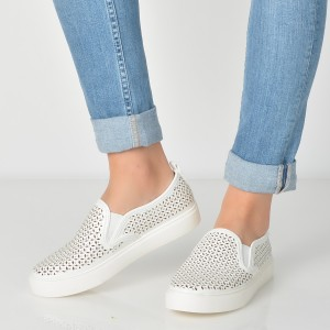 Pantofi ALDO albi, Cardabello, din piele ecologica