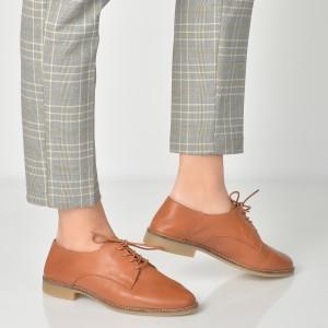 Pantofi ALDO maro, Tepolini, din piele naturala