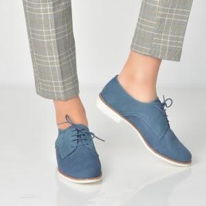 Pantofi Aldo Bleumarin, Pantoja, Din Piele Naturala