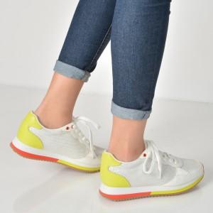 Pantofi sport ALDO albi, Ulerin, din material textil