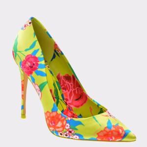 Pantofi ALDO galbeni, Stessy, din material textil