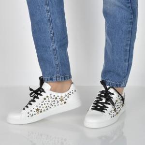 Pantofi ALDO albi, Poria, din piele ecologica