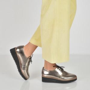 Pantofi ALDO argintii, Lovirede, din piele ecologica