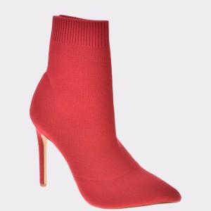 Botine ALDO rosii, Ysissa, din material textil