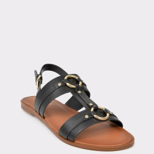 Sandale ALDO negre, Adeindra, din piele ecologica