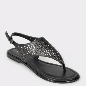 Sandale ALDO negre, Dwaoviel, din piele ecologica