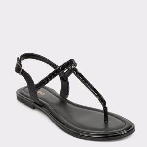 Sandale ALDO negre, Sheeny, din piele ecologica