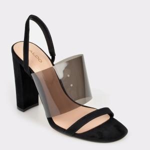 Sandale ALDO negre, Galilisa, din piele ecologica