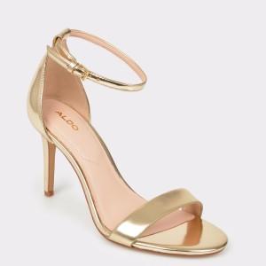 Sandale ALDO aurii, Piliria, din piele ecologica