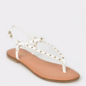 Sandale ALDO albe, Filanna, din piele ecologica