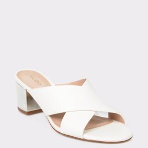 Papuci ALDO albe, Larusa, din piele ecologica