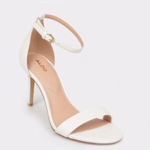 Sandale ALDO albe, Piliria, din piele ecologica