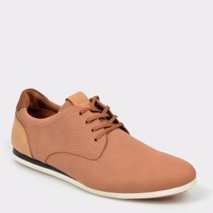 Pantofi ALDO maro, Ibareni, din piele ecologica