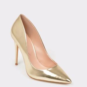 Pantofi ALDO aurii, Stessy, din piele ecologica