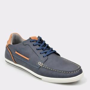 Pantofi ALDO bleumarin, Ongaro, din piele ecologica
