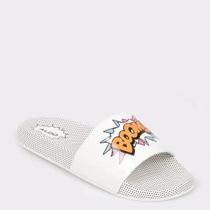 Papuci ALDO albe, Merillyra, din PVC