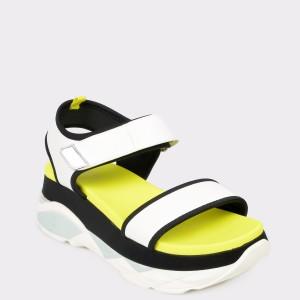 Sandale ALDO albe, Zarella., din piele ecologica
