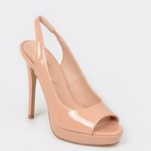 Sandale ALDO bej, Hislop, din piele ecologica
