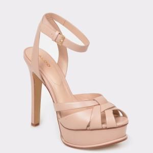 Sandale ALDO bej, Lacla, din piele ecologica