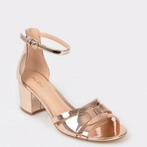 Sandale ALDO, aurii, Agreidia, din piele ecologica