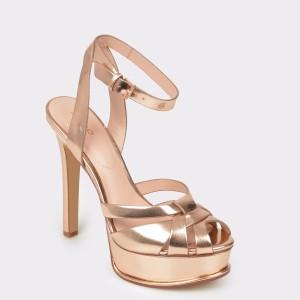 Sandale ALDO aurii, Lacla, din piele ecologica