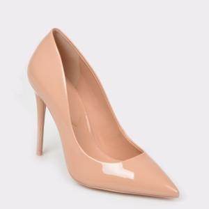 Pantofi ALDO nude, Stessy, din piele naturala lacuita