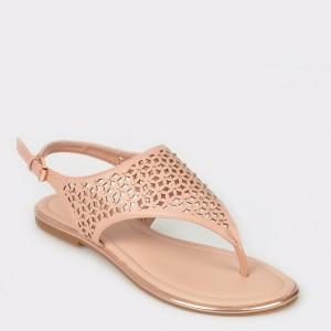 Sandale ALDO nude, Dwaoviel, din piele ecologica