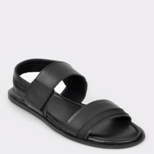 Sandale ALDO negre, Derivia, din piele naturala