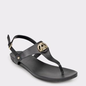 Sandale ALDO negre, Larenalia, din piele naturala