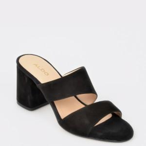 Papuci ALDO negre, Maevyan, din piele naturala