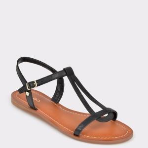 Sandale ALDO negre, Riesa, din piele naturala
