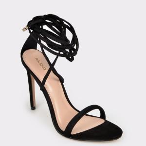 Sandale ALDO negre, Aselinia, din piele naturala