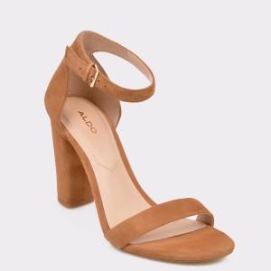Sandale ALDO maro, Jerayclya, din piele intoarsa