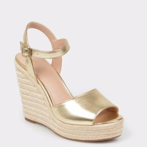 Sandale ALDO aurii, Ybelani, din piele naturala