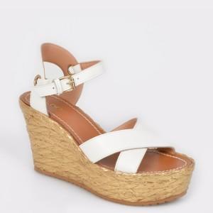 Sandale ALDO albe, Urebrilith, din piele naturala