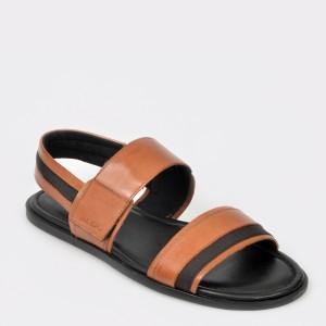 Sandale ALDO maro, Derivia, din piele naturala