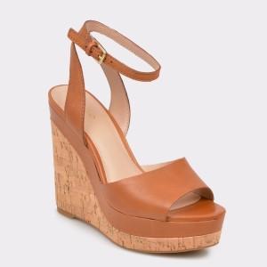 Sandale ALDO maro, Adruwien, din piele naturala