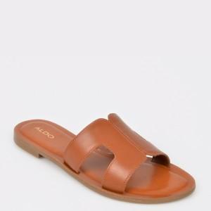 Papuci ALDO maro, Delassa, din piele naturala