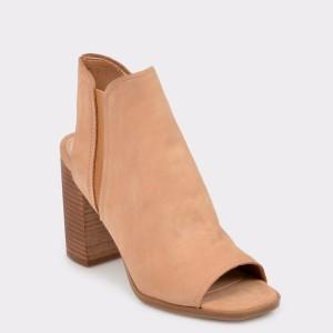 Sandale ALDO maro, Selalla, din piele intoarsa