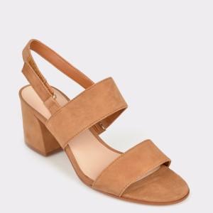 Sandale ALDO maro, Arievia, din piele naturala