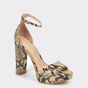 Sandale ALDO gri, Paeria, din piele naturala