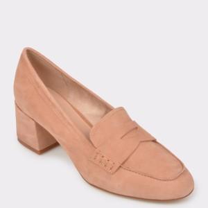 Pantofi ALDO bej, Galaesa, din piele intoarsa